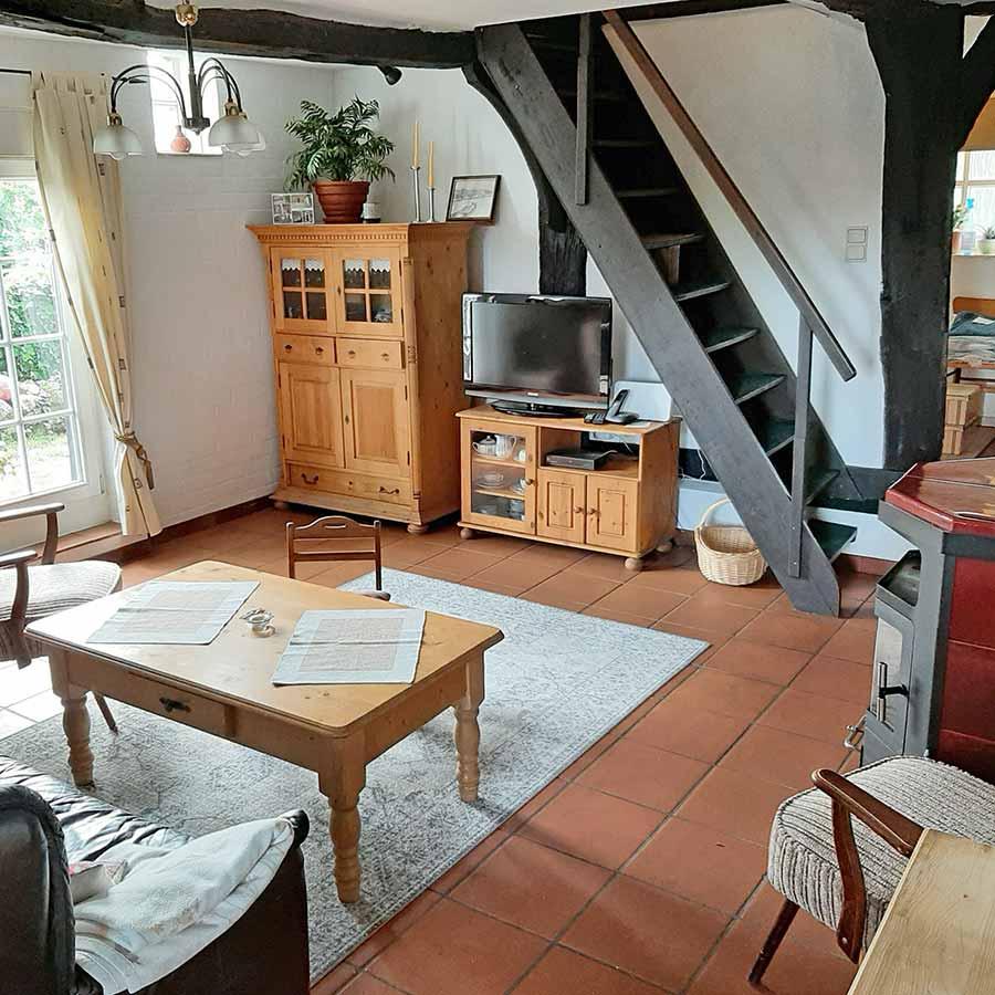 Wohnzimmer-Kamin-Backhaus